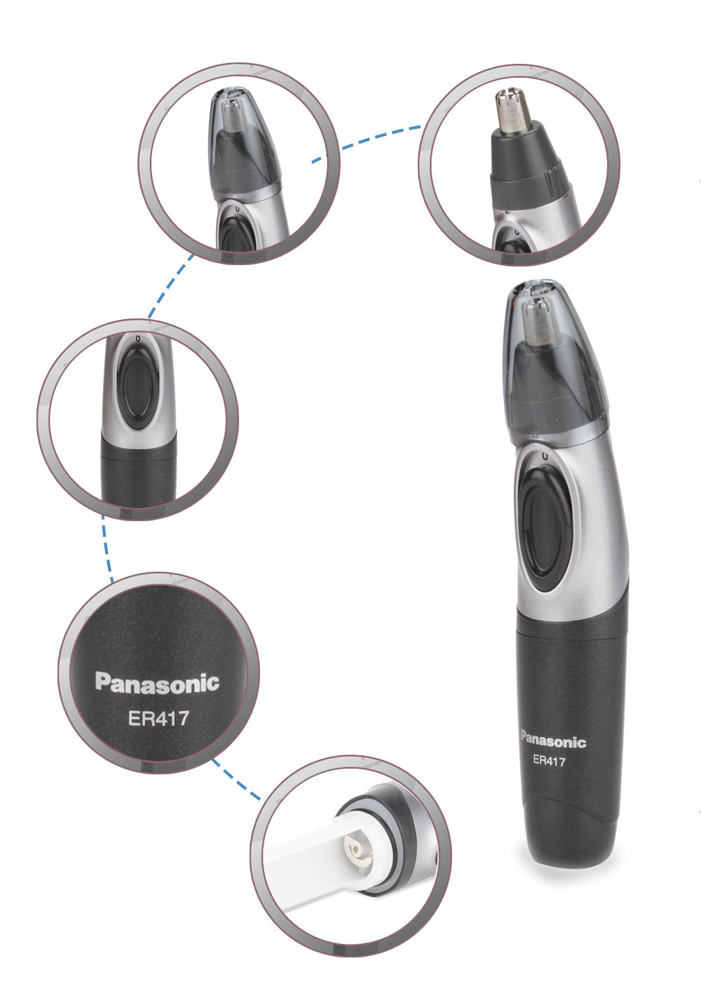 PANASONIC NOSE & EAR HAIR TRIMMER ER417K44B